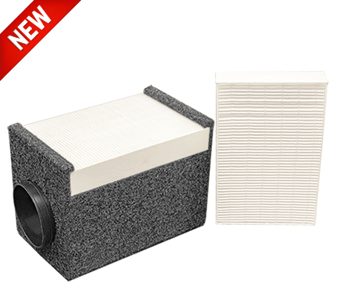 WhisperRoom's HEPA Filter Attachment and an extra HEPA Filter