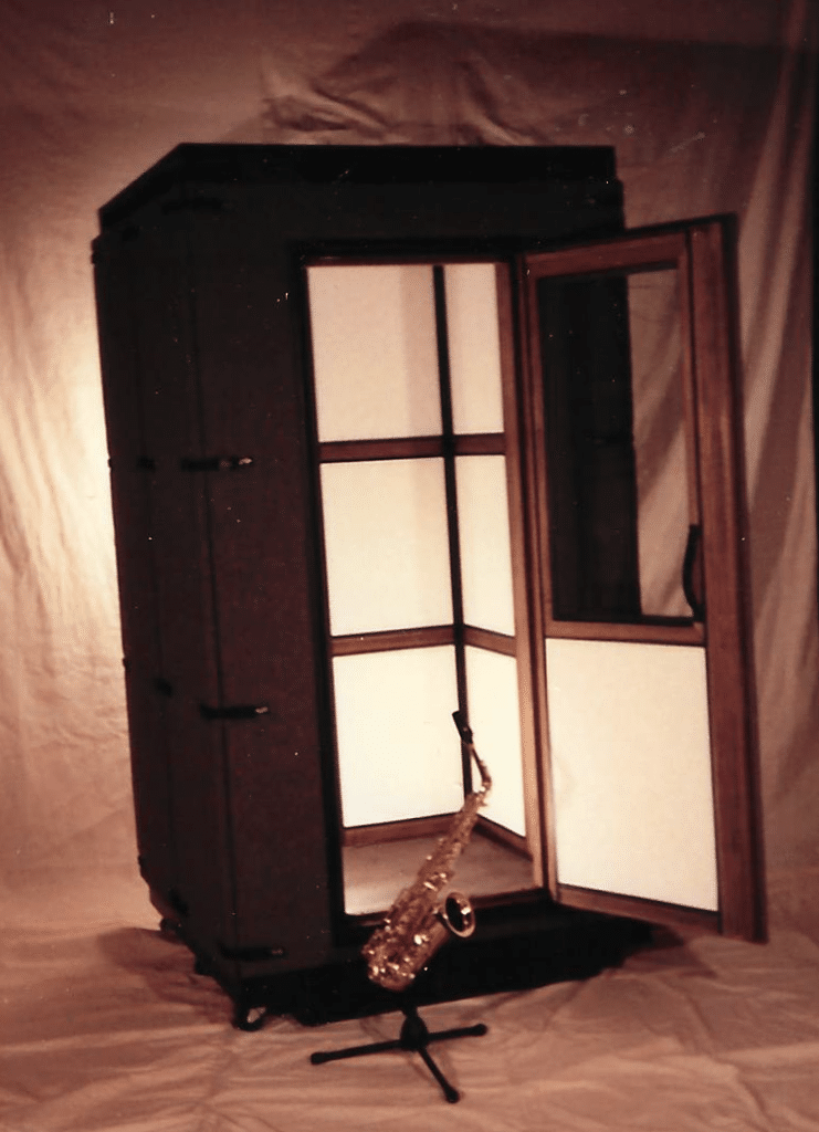 An original WhisperRoom soundproof boothl from the early 1990's