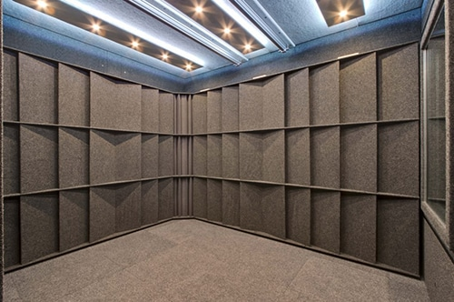 Interior of a WhisperRoom without studio foam