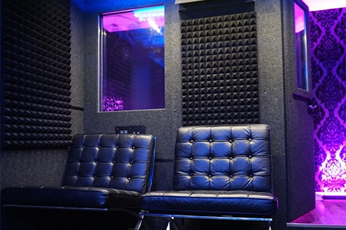 The inside of Current Sound WhisperRoom at Studio B in Hollywood