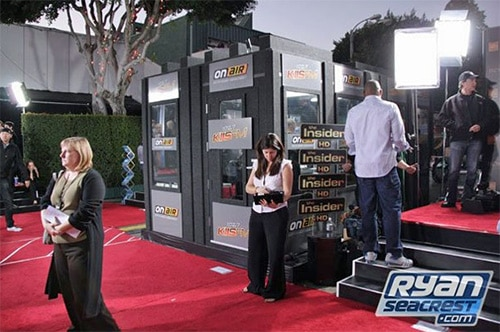 Custom built WhisperRoom at a red carpet event hosted by KIIS FM & Ryan Seacrest for the New Moon Premiere
