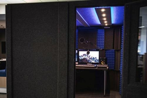 San Jose University's WhisperRoom with recording gear inside.