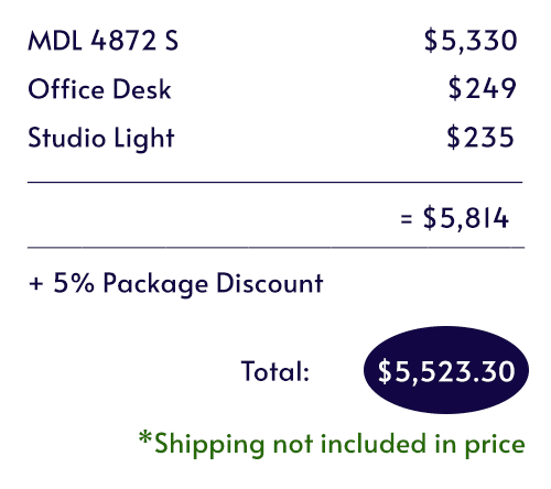 itemized pricing for the Work From Home Booth by WhisperRoom