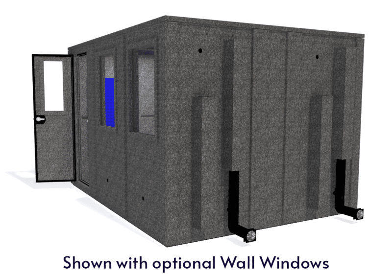 WhisperRoom MDL 102126 E shown with the door open from the side