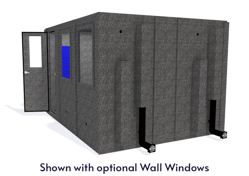 WhisperRoom MDL 102126 S shown with the door open from the side