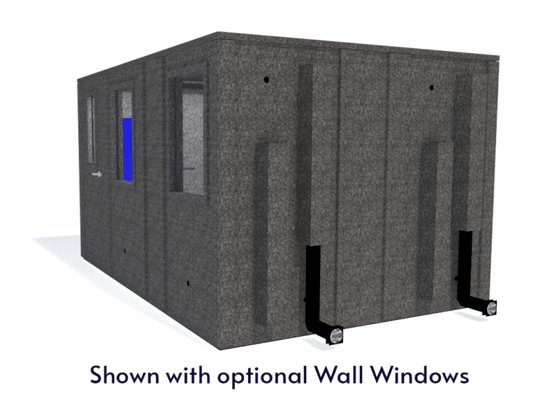 WhisperRoom MDL 102144 E shown with the door closed from the side
