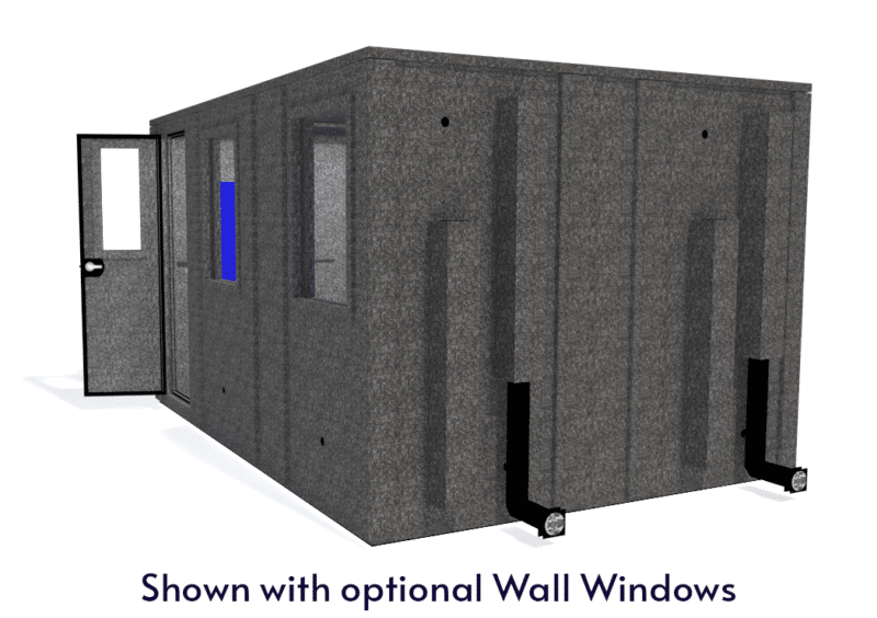WhisperRoom MDL 102144 E shown with the door open from the side