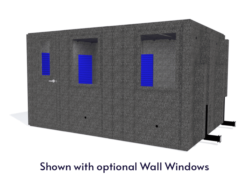 WhisperRoom MDL 102144 S shown with the door closed from the front