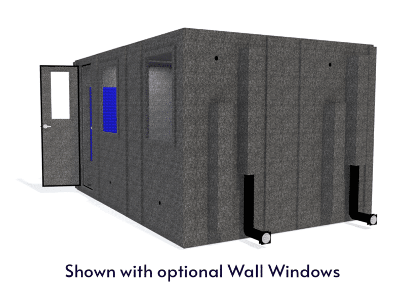 WhisperRoom MDL 102144 S shown with the door open from the side