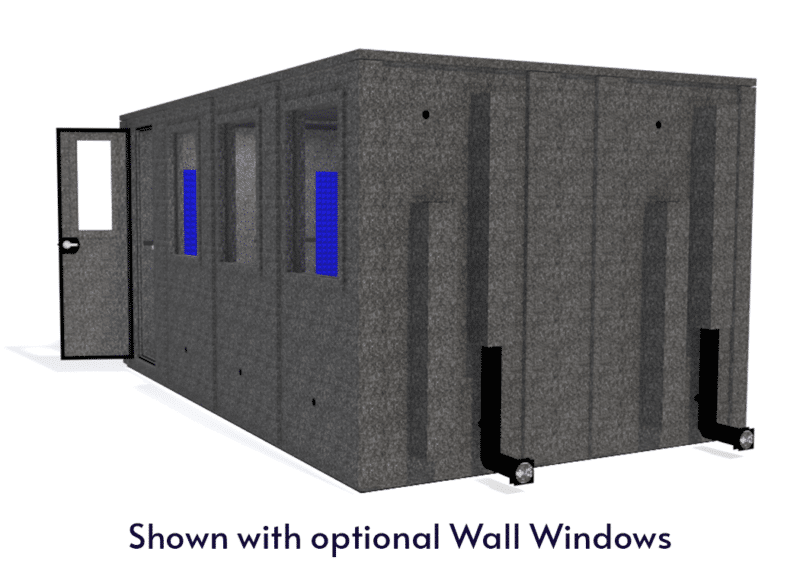 WhisperRoom MDL 102168 E shown with the door closed from the side