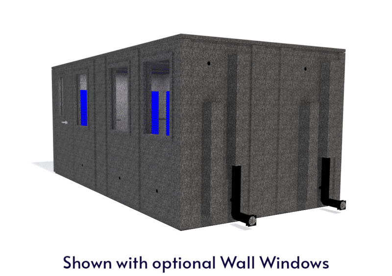 WhisperRoom MDL 102186 E shown with the door closed from the side