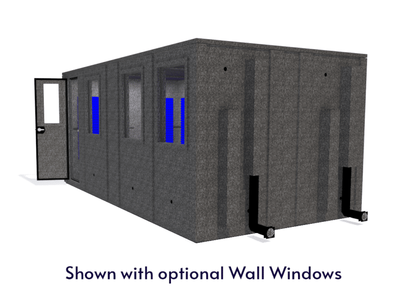 WhisperRoom MDL 102186 E shown with the door open from the side