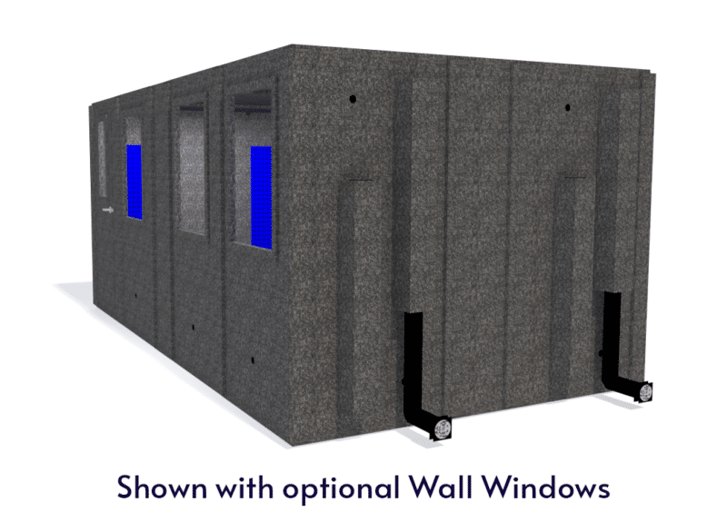 WhisperRoom MDL 102186 S shown with the door closed from the side