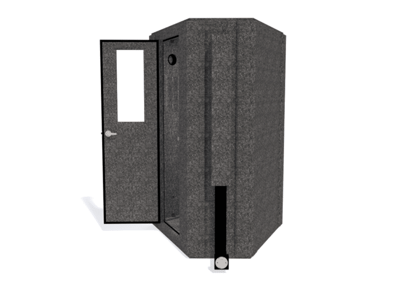 WhisperRoom MDL 127 LP S shown from the side with the door open