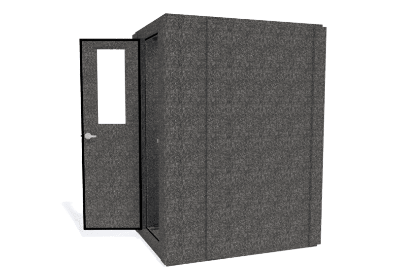 WhisperRoom MDL 4260 S shown with the door open from the side