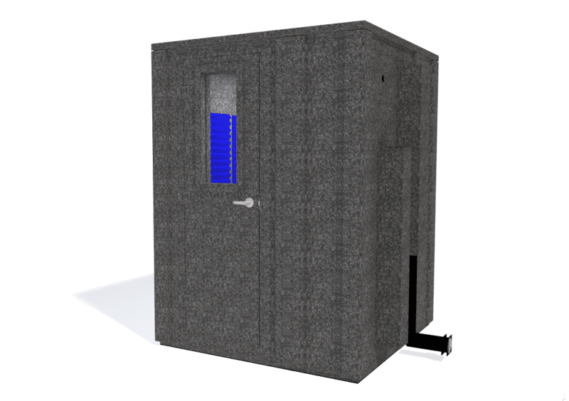 WhisperRoom MDL 6060 E shown with the door closed from the front