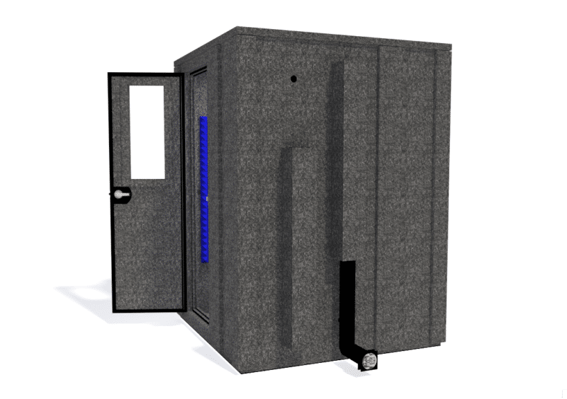 WhisperRoom MDL 6060 E shown from the side with the door open