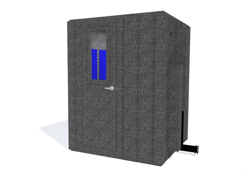 WhisperRoom MDL 6060 S shown with the door closed from the front
