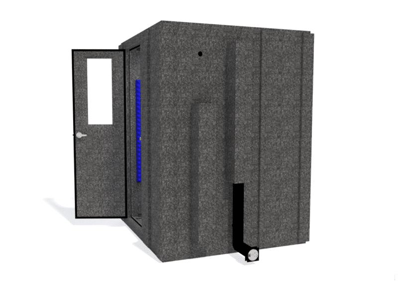 WhisperRoom MDL 6060 S shown with the door open from the side