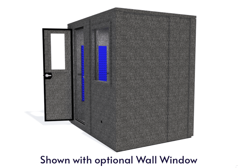 WhisperRoom MDL 6084 E shown with the door open from the side