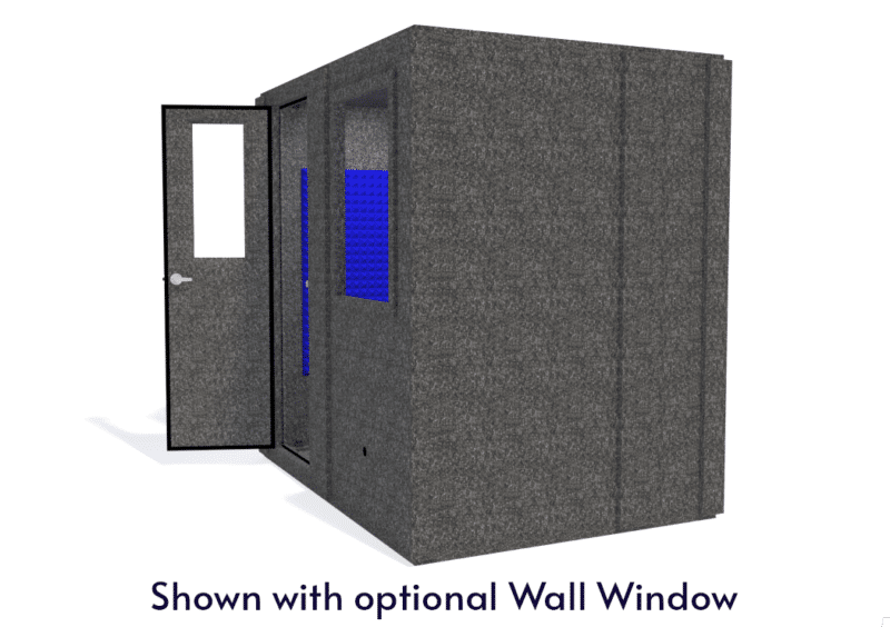 WhisperRoom MDL 6084 S shown with the door open from the side