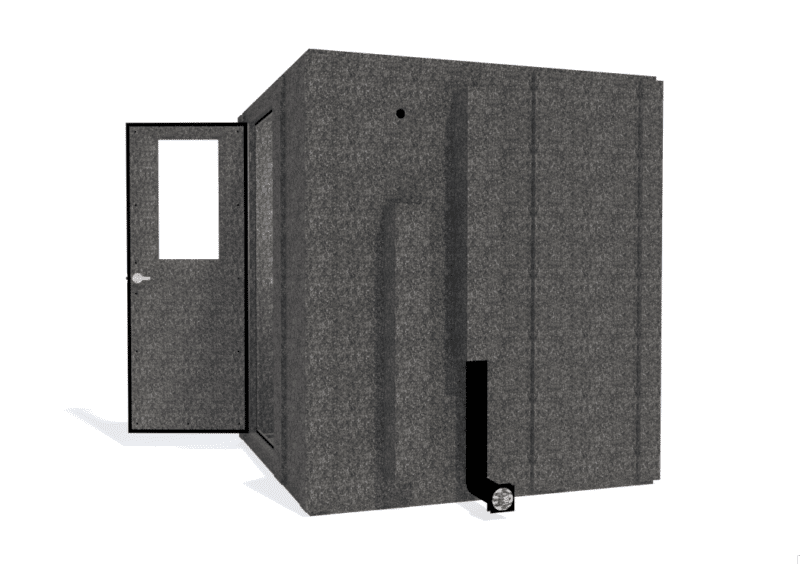 WhisperRoom MDL 7272 S shown with the door open from the side