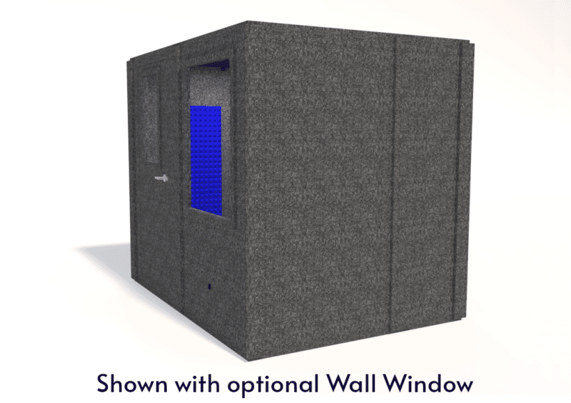 WhisperRoom MDL 7296 S shown with the door closed from the side
