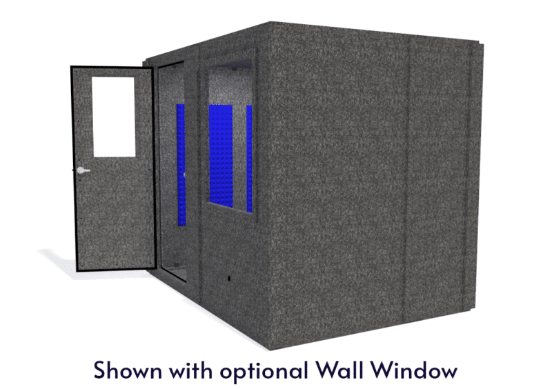 WhisperRoom MDL 7296 S shown with the door open from the side