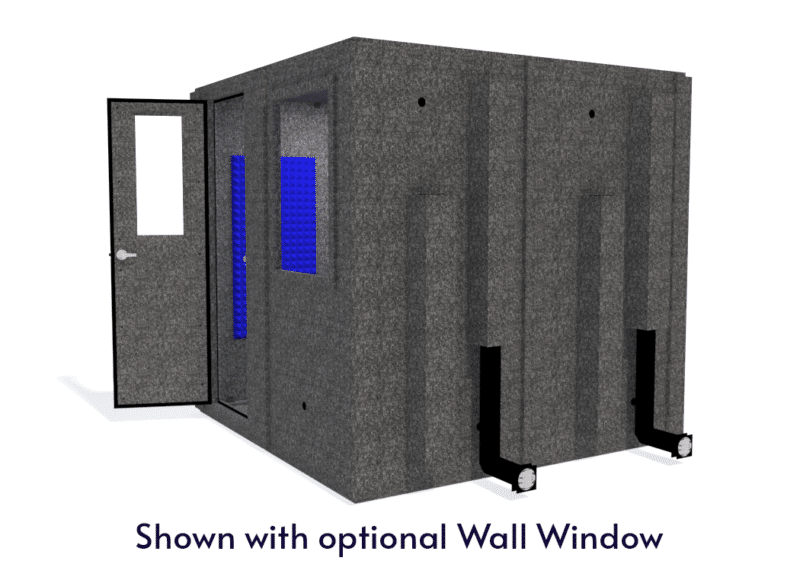 WhisperRoom MDL 8484 S shown with the door open from the side