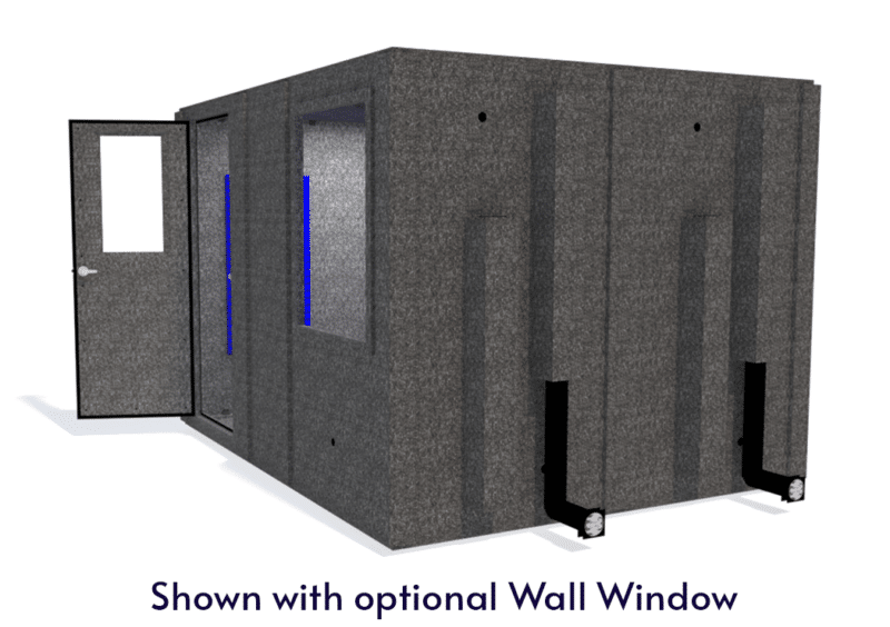 WhisperRoom MDL 96120 S shown with the door open from the side