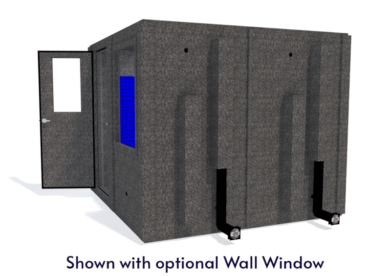 WhisperRoom MDL 9696 S shown with the door open from the side