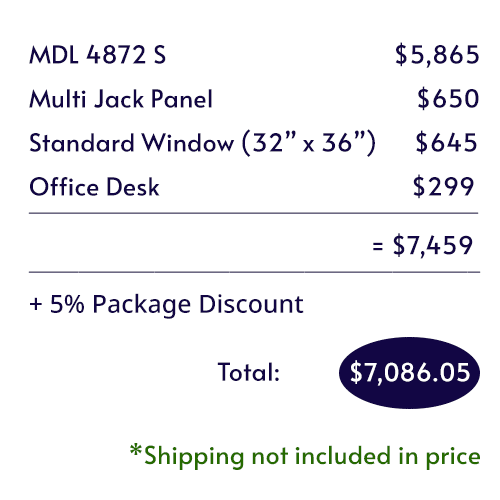 Itemized pricing of the Audiology Basic Package