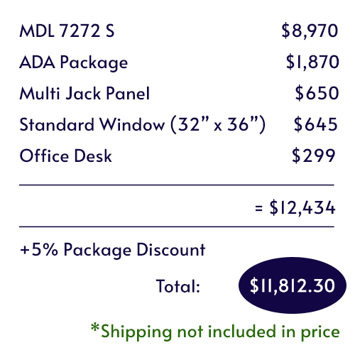 Itemized pricing for the Audiology Deluxe Package