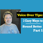 Bill DeWees inside of a WhisperRoom giving tips to sound better when doing voice overs