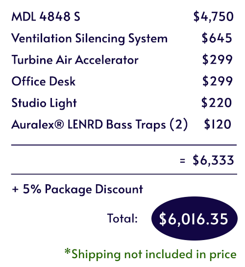 Itemized pricing for the Voice Over Basic Package