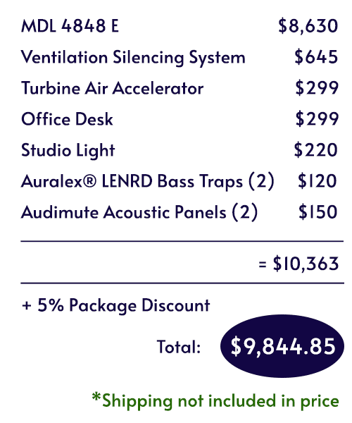 Itemized pricing for the Voice Over Deluxe Package