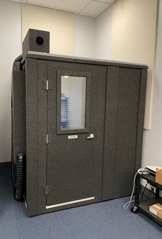 A WhisperRoom MDL 7272 E shown from the outside.