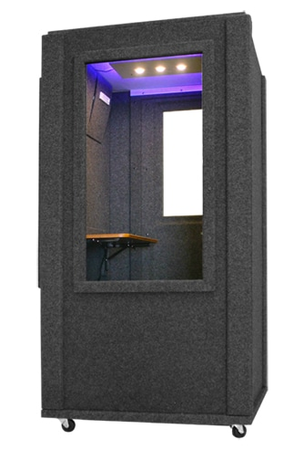 WhisperRoom's Office Booth shown from the rear.