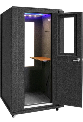 WhisperRoom's Office Booth shown with the door open