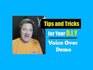 Bill DeWees in his WhisperRoom image for a Voice Over DIY Demo