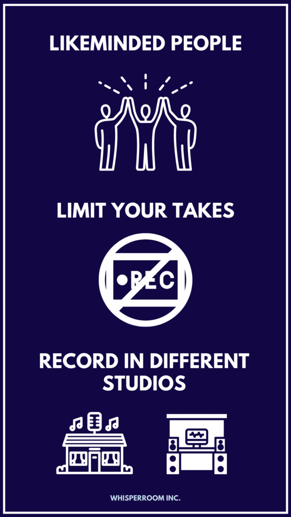 Another info graph explaining ways to overcome studio anxiety when recording.