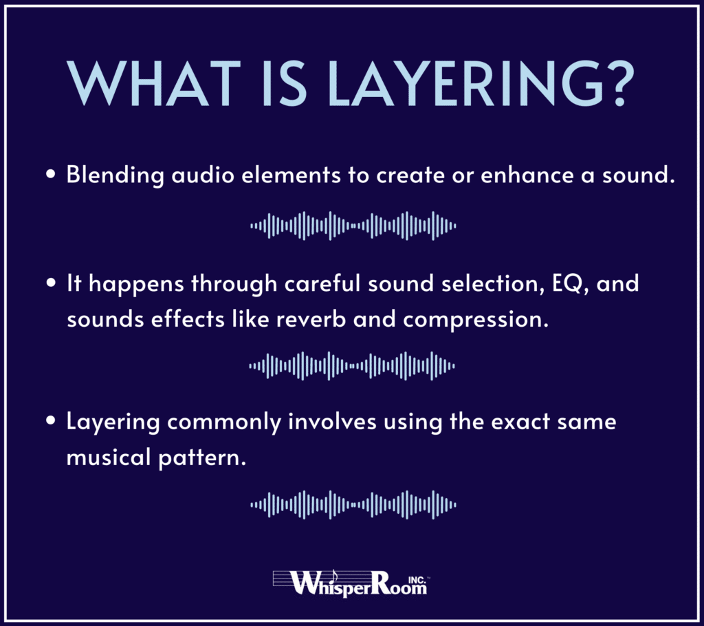 An info graph that describes what audio layering is.