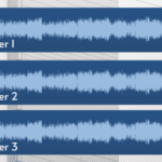 Image to demonstrate audio layering with 3 different audio tracks