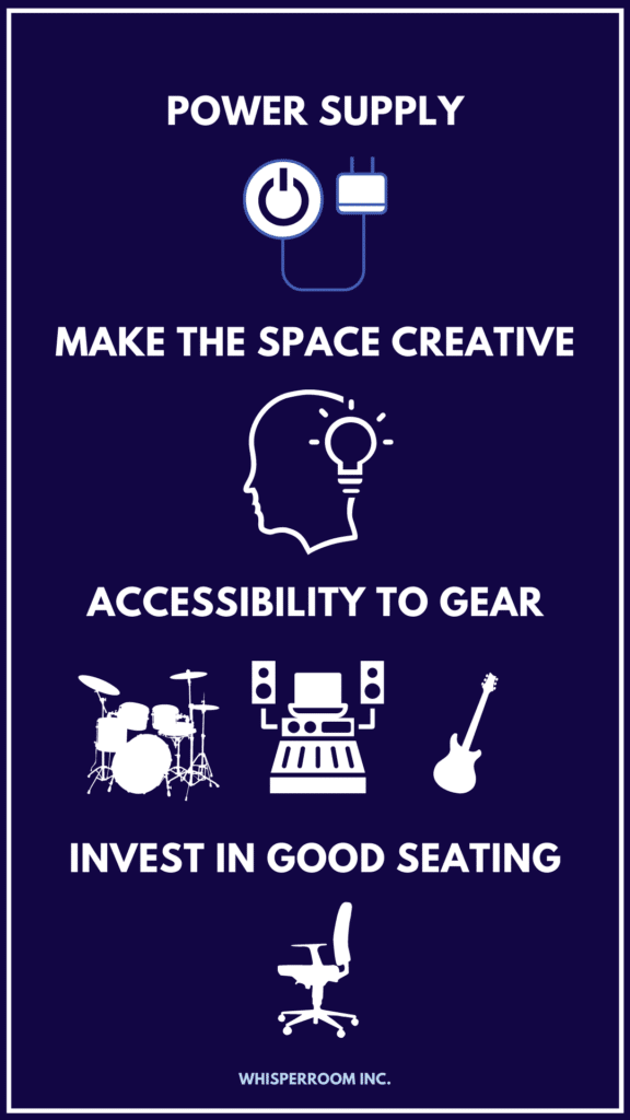 Another info graph showing more ways to set up a home recording studio.
